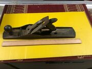 """Vintage Antique Wood Planer Tools 17"""" Woodworking Craftsman Made In Usa Heavy"""
