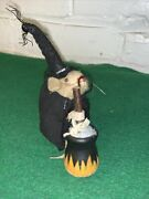 Vintage Halloween Mouse Made Of Felt Made In Germany 3 Inches