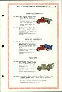 1934 Paper Ad A. C. Williams Toy Cast Iron Tow Truck Wrecker Dump Tray Stake