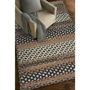 Capel Rugs Drifter Cross Sewn Wool Blend Cognac Multi Country Braided Rug