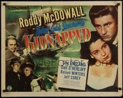 Kidnapped Original Vintage Movie Poster With Roddy Mcdowall - Ultra Rare