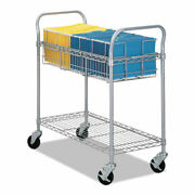 Wire Mail Cart 600-lb Capacity 18.75w X 39d X 38.5h Metallic Gray