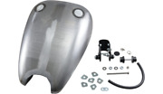 Extended Rubber Mount Smooth Gas Fuel Tank 2 Caps Harley Sportster 883 1986-2003