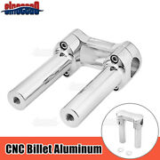 6and039and039 Chrome 1.25and039and039 Handlebar Risers Top Clamp For Harley Breakout Fat Bob Fat Boy