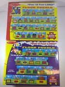 Lot Of 2 Melissa And Doug Floor Puzzle Abc 123 Train New Sealed