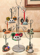Disney Ear Hat Ornaments Nightmare Before Christmas + Lightup R2 And Tree Stand