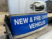 Ford Dealer Sign Used Cars Pre Owned Dodge Chevy With Post