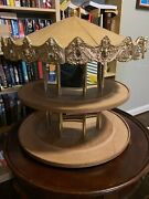 Tobin Fraley American Carousel Wooden Stand Holder For Horses - Used Vintage