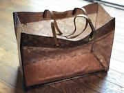 Louis Vuitton Clear Tote Bag Color Brown Limited Item Unused Rare From Japan