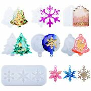 7pcs Resin Ornament Molds Christmas Silicone Casting Set For Xmas Decorations