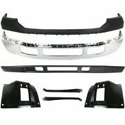 New Front Bumper Chrome Upper Cover Valance Brackets For Ford F-250 2005-2007