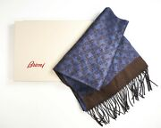 New 549,00 Brioni Luxury Scarf Cashmere Silk Made In Italy Scb1