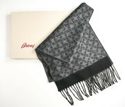 New 549,00 Brioni Luxury Scarf Cashmere Silk Made In Italy Scb6