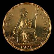 Lucky Last Ever Proof One Penny Vintage Coin 1970 50th Birthday Anniversary