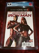 Invincible Iron Man 7 Cgc 9.8 White Pages 1st Appearance Of Riri Williams Key Is