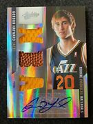Gordon Hayward 2011 Panini Absolute Rookie Auto Jersey Patch Ball Rc Prime 1/5
