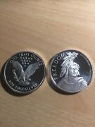 4 Freedom 1 Oz .999 Fine Silver Rounds Free Shipping