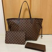 Louis Vuitton Damier Neverfull Mm Brown Auth Mm3483