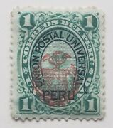Peru Pacific War Ovpt Coat Of Arms Stamp 1 Centavos Union Postal My Ref Aa