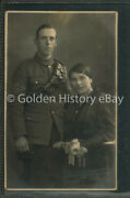 Royal Animal Veterinary Corps Rp Real Photo Postcard Military Ww1 Soldier Wife