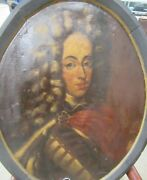 Antique Old Master 17th, 18th C Portrait Painting Of Nobility From Castle