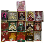 Lot Of 16happy Holiday Barbies Special Edit 1988-1998,2000,2006,2007,2008,2009