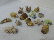 Wade England Red Rose Tea - Animals -whimsies Figurines 14 Pc. Lot