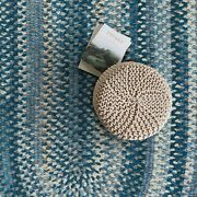 Capel Rugs Alliance Soft Chenille Polyester Braided Oval Rug Chambray 445