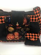 Halloween Large 13 X 11 Quilted Purse Plus Change Purse