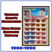 Vintage Dime Store Counter Display Childrens Sunglasses 12 Pair Hong Kong Toy