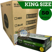 Shargio Full Flavor Filtered Cigarette Tubes King Size Menthol Green 50 Boxes