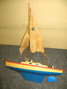 Vintage Pond Yacht Sail Boat Seifert Segelboote Toy Germanyprops Old Gift Gq