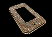 Bling Crystallized Switch Plate Single Double Triple Rocker W/ Crystals