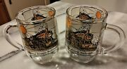 Conway Scenic Railroad Coffee Mugs Collectibles Glass Cups Set Of 2