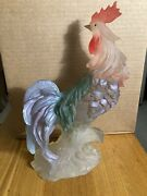 Vtg Resin Figure Rooster Chicken Country Farm Art 12 Colorful Clear