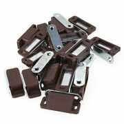 20pcs Small Magnetic Door Catches Brown Cupboard Wardrobe Cabinet Latch Catch