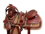 Team Roping Western Saddle Rodeo Show Pleasure Horse Roper Ranch Tack 15 16 17