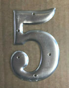 Electromark 3 Number 5 - Aluminum - Embossed - New Old Stock