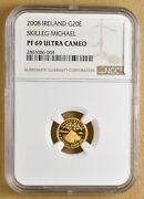 2008 Ireland Skilleg Michael 20 Euro Gold Commemorative Ngc Pf 69 Ultra Cameo