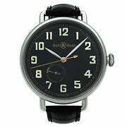 Bell And Ross Heritage Steel Power Reserve Black Dial Men Watch Brww197-her-st/scr