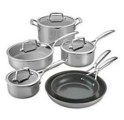 Zwilling J.a. Henckels Energy Plus Nonstick Stainless Steel 10 Pc. Cookware Set