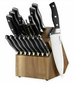 New Chicago Cutlery Insignia Classic 18-piece Knife Block Set In Black