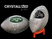 Any Team Fully Crystallized Football Game Sized W/ Crystals Bling Nfl