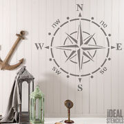 Ships Compass Stencil Home Decor Wall Fabric Furniture Painting Ideal Stencils