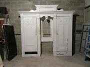 Antique Carved Oak Closet Front Built In Armoire 112 X 105 Salvage