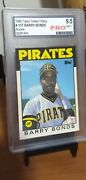 1986 Topps Traded Barry Bonds Rookie Rc 11t Pro 9.5 Mint+