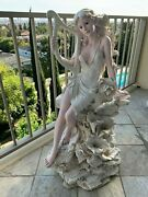 Water Fountain Statue With Lights, Indoor Or Outdoor