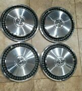 Ford 1970s 15inch Hubcaps / Wheel Covers Lot Of 4