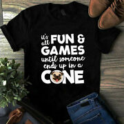 Itand039s All Fun And Games Until Someone Ends Up In A Cone Pug Veterinarian Tshirt