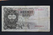 Latvia / Baltic First Republic Old Original Banknote 10 Lats 1938 Year Ae 035610